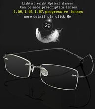 Like and Share if you want this  9 Colors Lightest Optical glasses Memory Titanium Alloy Rimless Frame Myopia Prescription Glasses 1.56 1.61 progressive lenses     Tag a friend who would love this!     FREE Shipping Worldwide     #Style #Fashion #Clothing    Buy one here---> http://www.alifashionmarket.com/products/9-colors-lightest-optical-glasses-memory-titanium-alloy-rimless-frame-myopia-prescription-glasses-1-56-1-61-progressive-lenses/