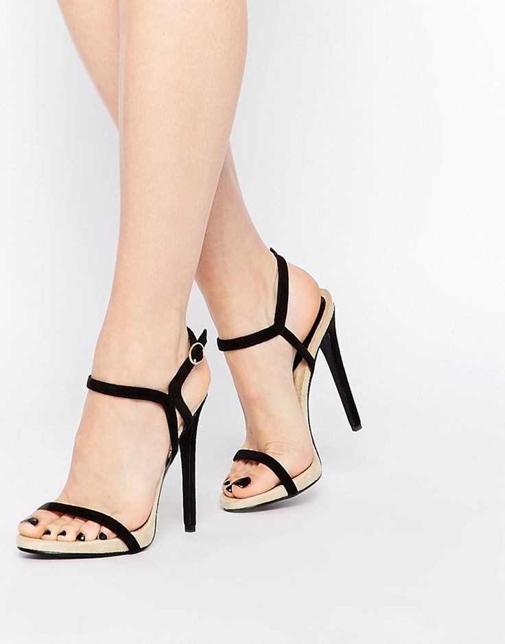 Image 1 ofDaisy Street Barely There Two Part Heeled Sandals