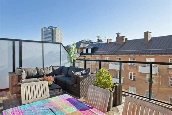 : Interior, Rooftop Terrace, Outdoors Living, Penthouse Apartment, Outdoor Spaces, Photo, Compact Penthouse