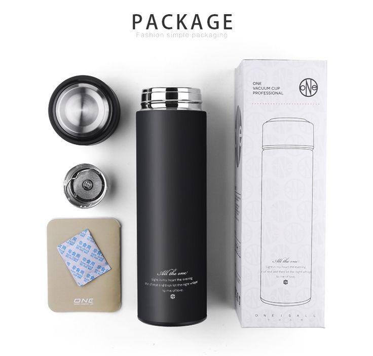 450ML Black Thermalcup Stainless Steel Thermal Mug Tea Drinkware Insulated Thermos Coffee Mug Vacuum Flasks Cup Vacuum Flask