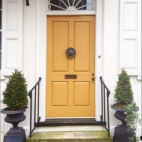 Mustard Yellow - Our Favorite Charleston Front Doors                                                                                                                                                      More