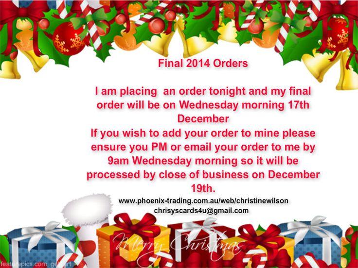 Last 2014 Orders
