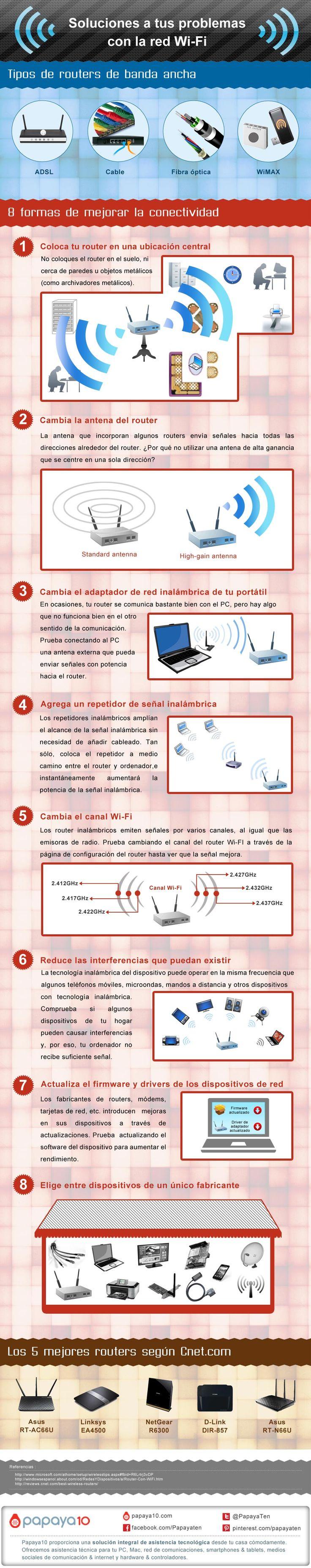 8 consejos para mejorar tu red WiFi #infografia #infographic