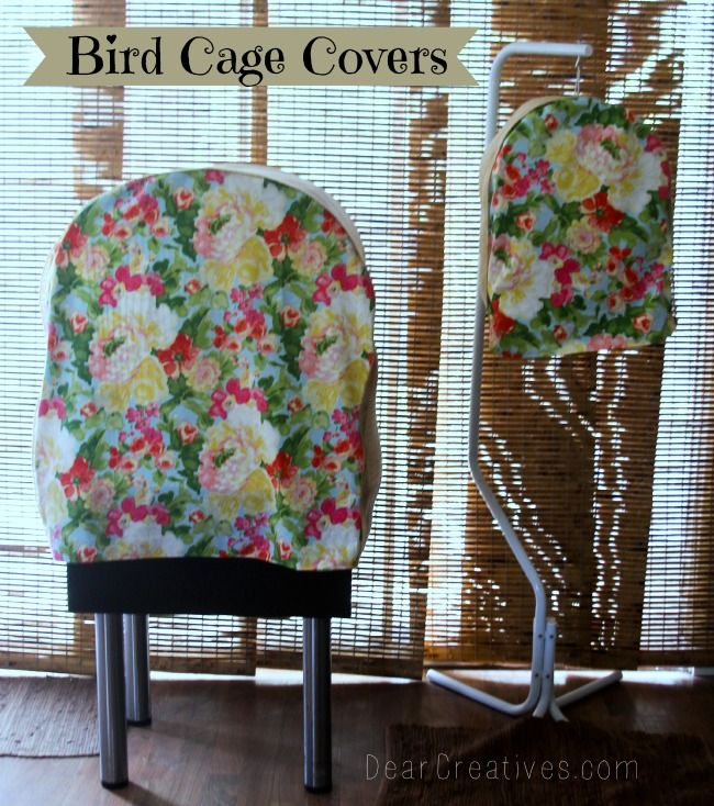 Great idea to make bird cage covers from @Elena S fabric from @Theresa Burger Huse! So adorable! #waverize