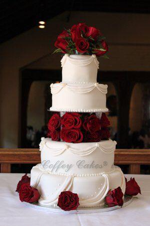 Round Wedding Cakes Cake Beautiful Rose Christmas Decorated Red Roses Photos My Photo Al