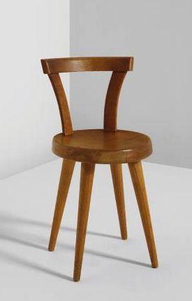 """Side Chair, from """"L'Équipement de la Maison"""" Series, Manufactured by BCB, France. Designed 1947 Literature: Jacques Barsac, Charlotte Perriand, Un art d'habiter, 1903-1959, Paris, 2005, p.275, 280, 335"""