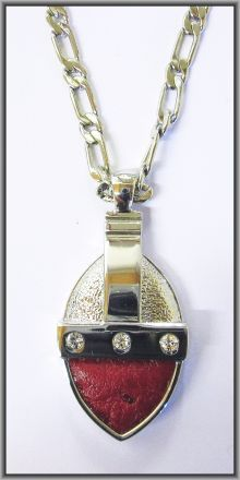 """""""Crystal Oval Pendants Ostrich Leather"""" Ostrich leather crystal oval pendants are lightweight, nickel and lead free with superior quality plating that ensures years of tarnish free wear. Each ostrich leather crystal oval pendant is detailed with a genuine Swarovsky crystal. .. GET@ www.auldco.co.za"""