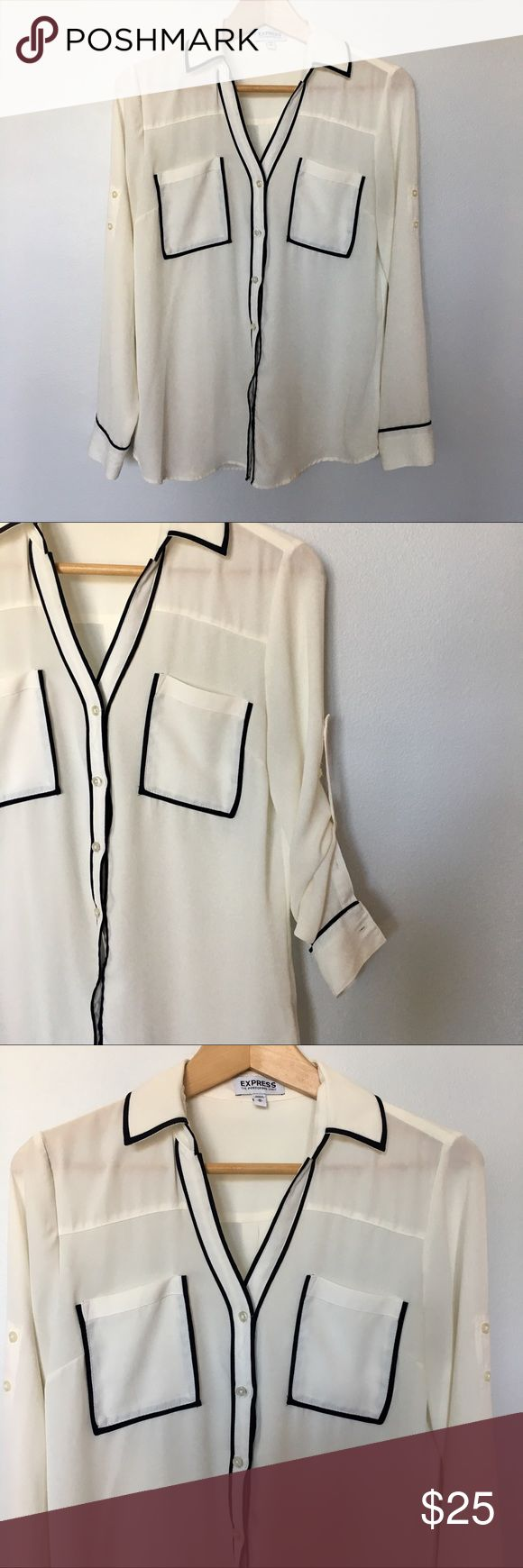 EXPRESS Portifino Shirt The classic original fit EXPRESS Portofino shirt in a sh…