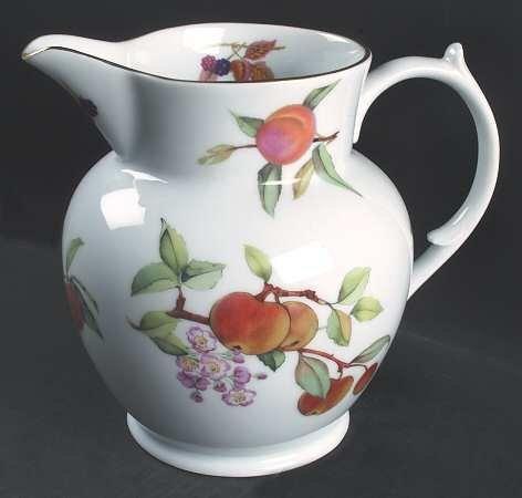 Royal Worcester Evesham Gold (Porcelain) 128 Oz Jug, Fine China Dinnerware.
