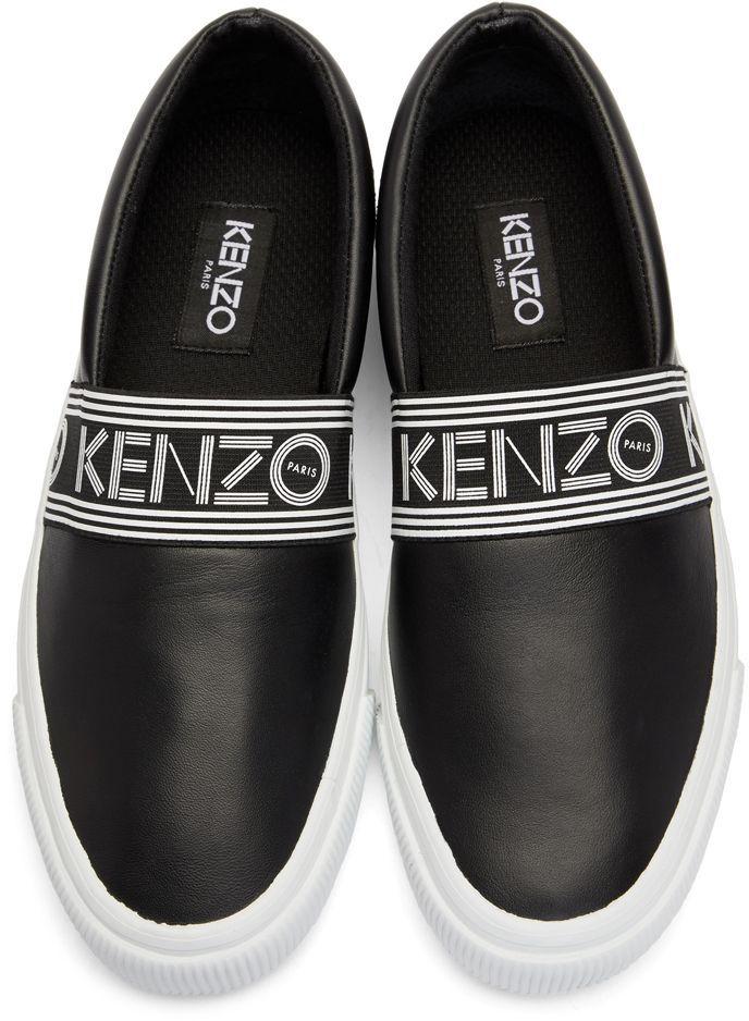 Kenzo - Black Leather Kapri Slip-On