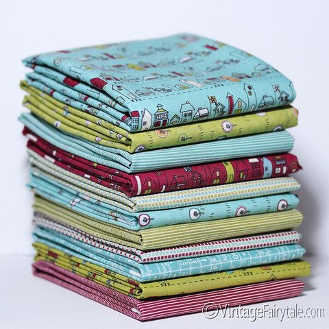 Road 15 Fat Quarter Bundle by Sweetwater for Moda Fabrics | Vintage Fairytale Fabrics