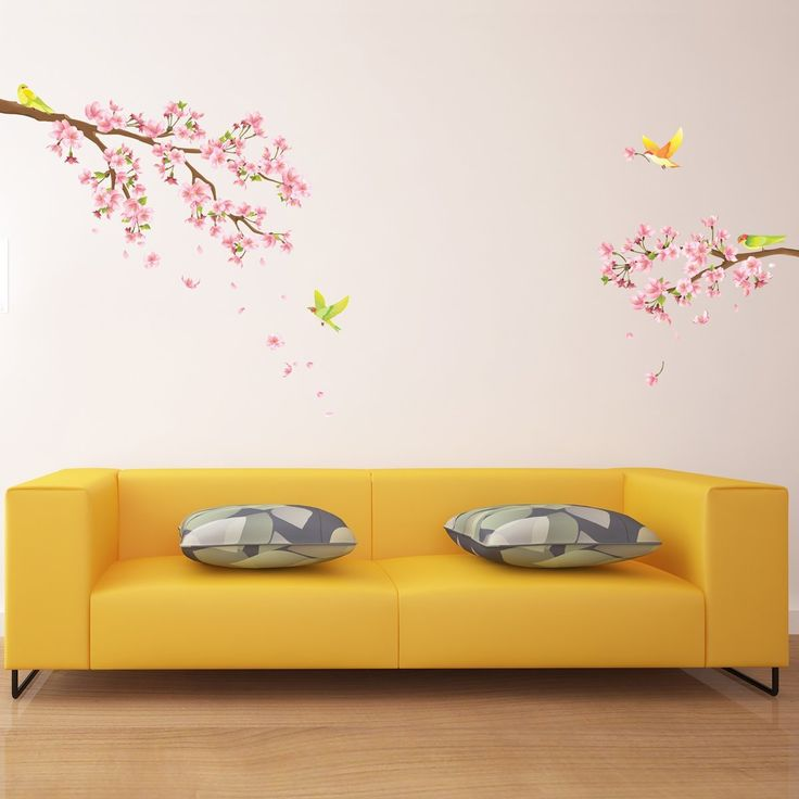 Decowall, DW-1303, Cherry Blossoms Wall Stickers, Home Art Decoration-wall stickers/wall decals/wall transfers/wall tattoos/wall sticker: Amazon.co.uk: Kitchen & Home