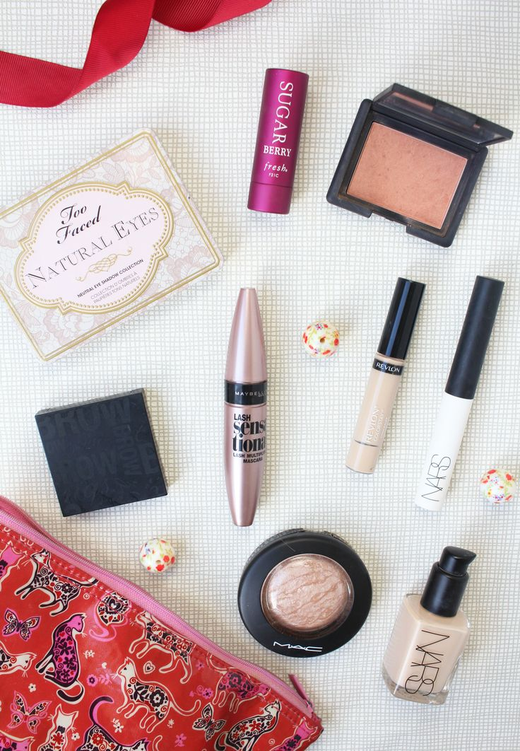 What's in my makeup bag #5 featuring Maybelline, Too Faced, Nars, Benefit, Revlon, Mac and Fresh. www.themakeupdirectory.co.uk #bbloggers