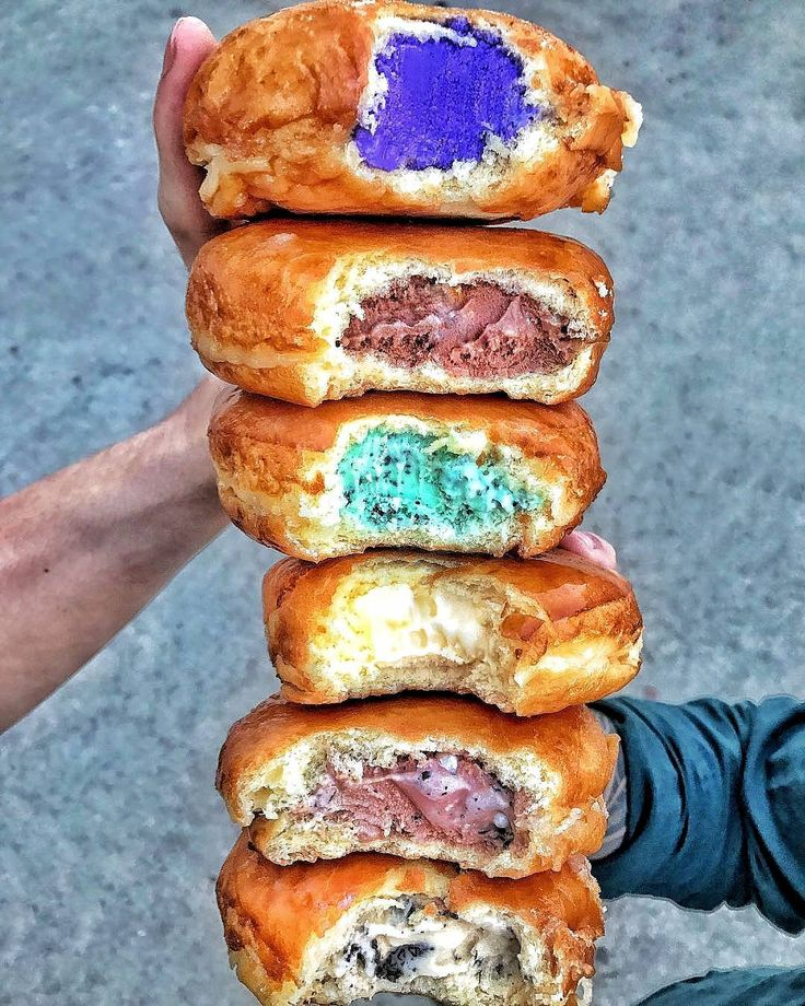 Why, why, why did no one think of making doughnuts filled with ice cream before? Please let ice cream doughnuts be the new big food trend.