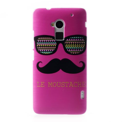 Le #Moustache & Glasses Rose Hard Plastic Shell for HTC #OneMax