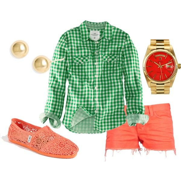 "Green and Coral...I actually like this a lot.: Dream Closet, Color, Pretty Things, 82 "", Wishful Style"