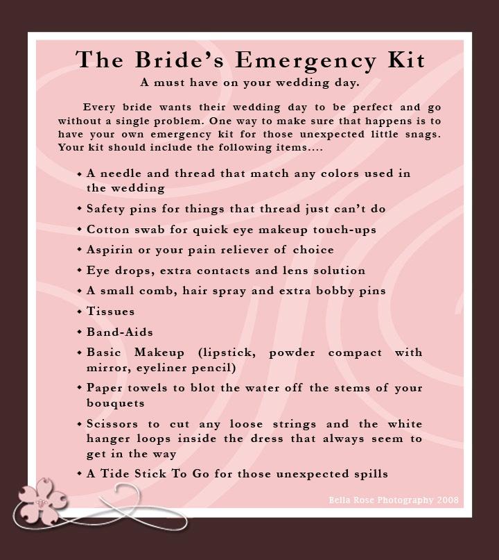 Bridal Emergency Kit Diy