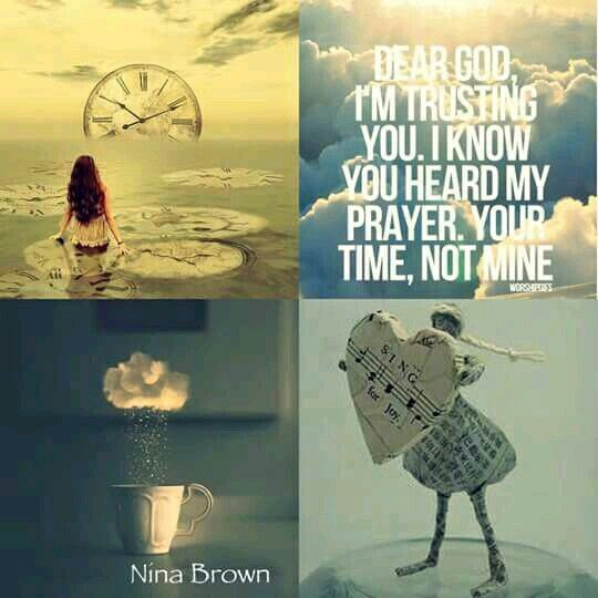 God's time not mine