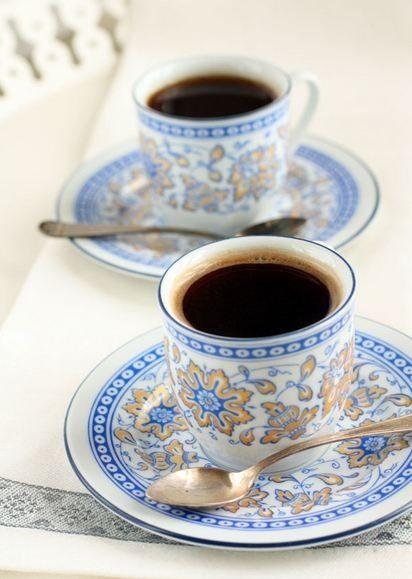coffee!( coffee is served June, come on over ;) really like the coffee,cups are pretty... ..love ya, mama