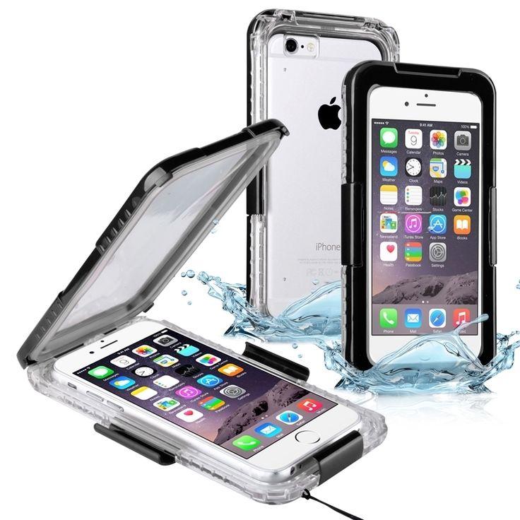 Insten Plain Hard Snap-on Waterproof Phone Case Lanyard for Apple iPhone 6/ 6s