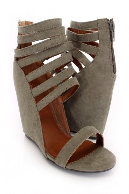 Olive Wedge Sandals