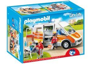PLAYMOBIL City Life: Ambulance with light and sound (6685)