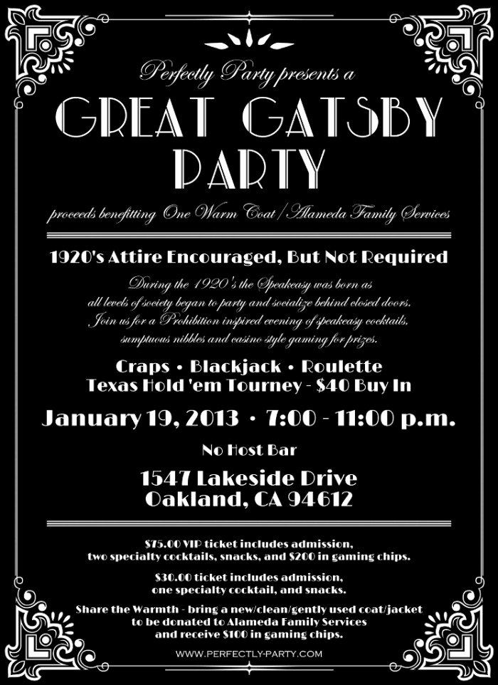 Great Gatsby Party Invitation Template Elegant Lost In Translation Why I Won T Be Attending Gatsby Party Invitations Gatsby Invitations 1920s Party Invitations