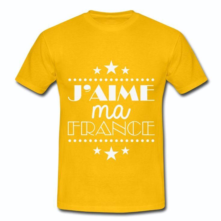 Tee Shirt Jaune France J'aime ma France II