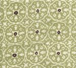 Cushions for Barstools in Kitchen: Quadrille Fabric in Navy with Green Piping, or the reverse