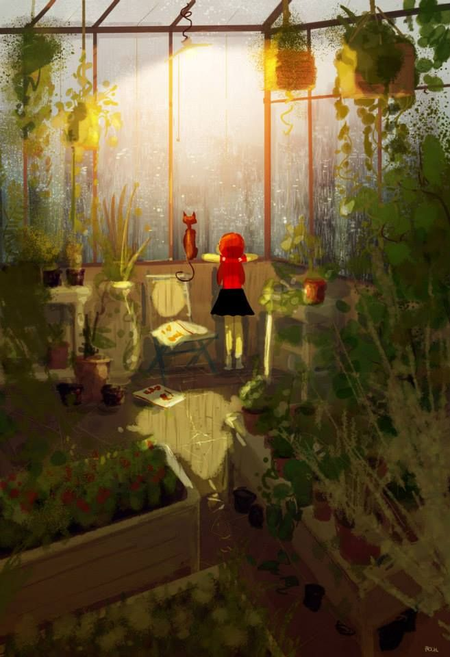 I love Pascal Campion's use of light in lots of his pieces of art. This one in particular is stunning because of the warm, gorgeous colours.