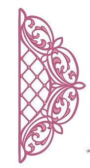 Creative Expressions Sue Wilson Die - Configurations Collection - Lattice Arched Adornment - CED6302 by PNWCrafts on Etsy