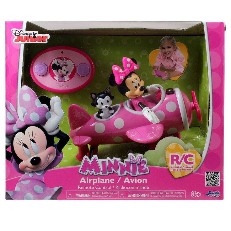 Disney's Minnie Mouse Remote Control Airplane, Multicolor