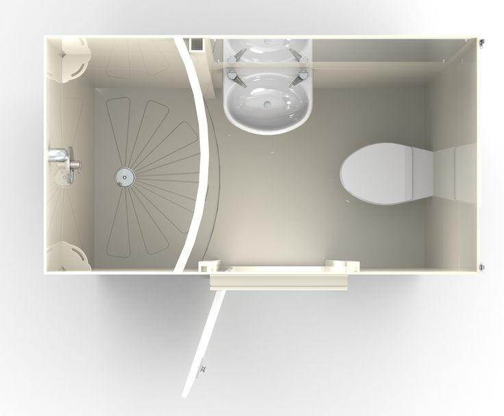Taplanes: Linfield en suite bathroom pod 1 of 2