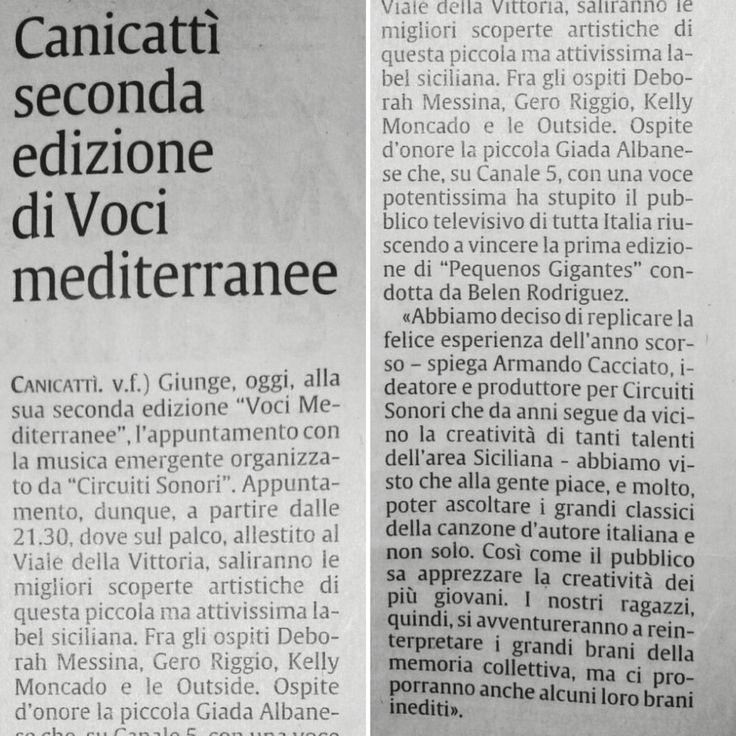 """""""La Sicilia"""".  Appuntamento stasera, ore 21:30, di fronte Artefredda e Pizzico & Spizzico, viale della Vittoria, Canicattì."""