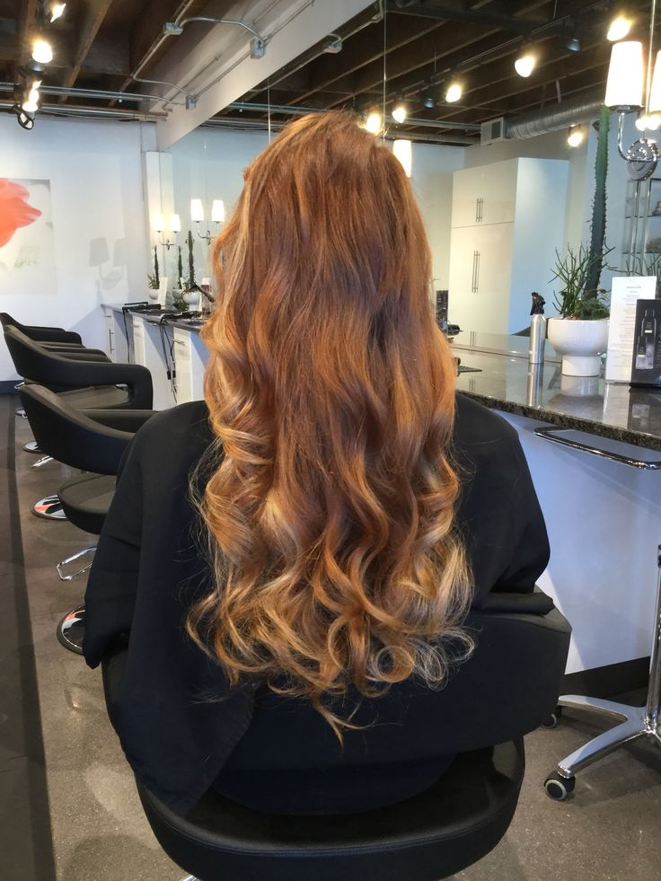 Copper Browm Ombr 233 Balayage With Blonde Ends Long Copper