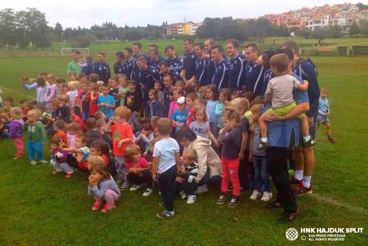 Jutarnji trening Hajduka u Vrsaru • HNK Hajduk Split