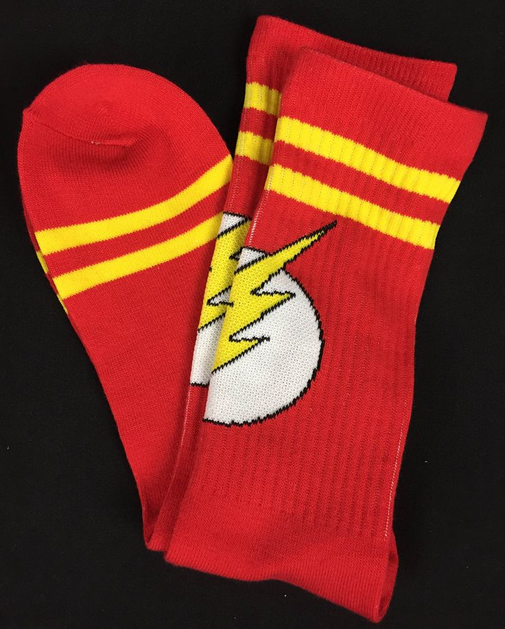The Flash Logo Socks from JUne' 2015's Hero Crate (The Flash Theme)