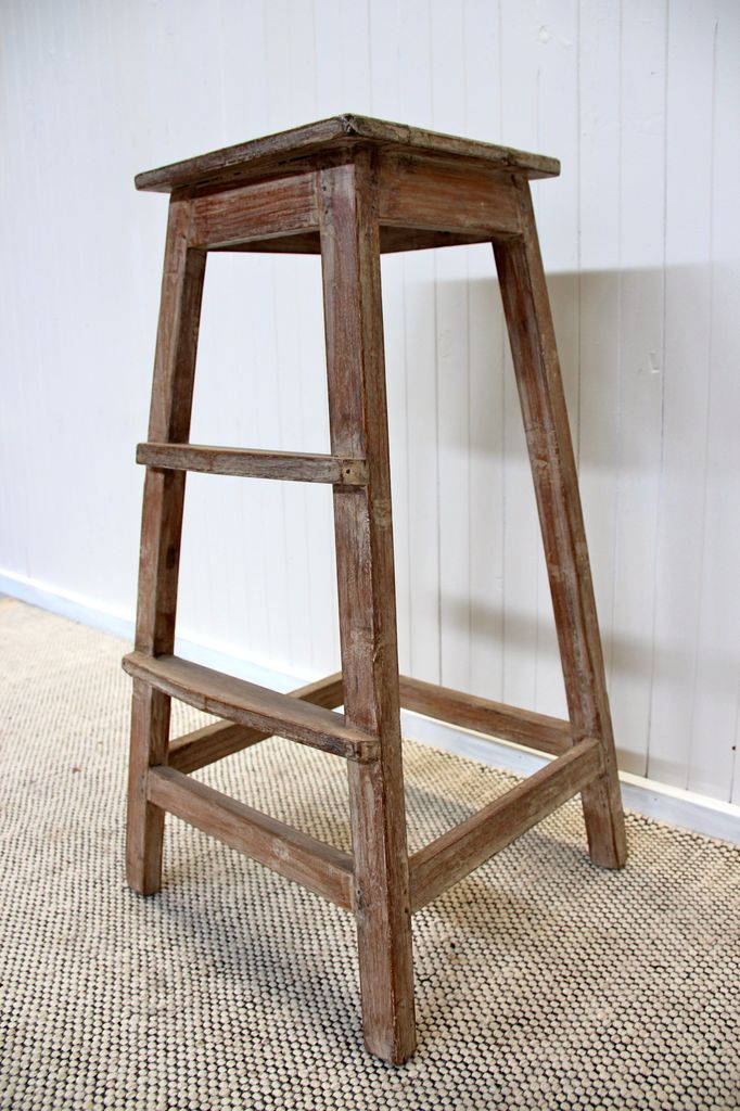 Tall Timber Stool – Aziza Designs Vintage & Antique Indian Furniture and Homewares