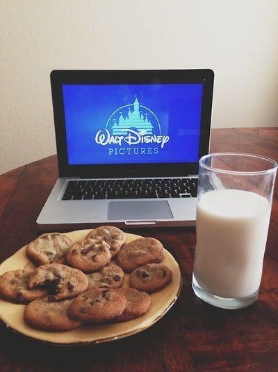 disney + cookies & milk