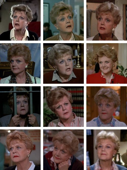Jessica Fletcher (Angela Lansbury) throughout the years.