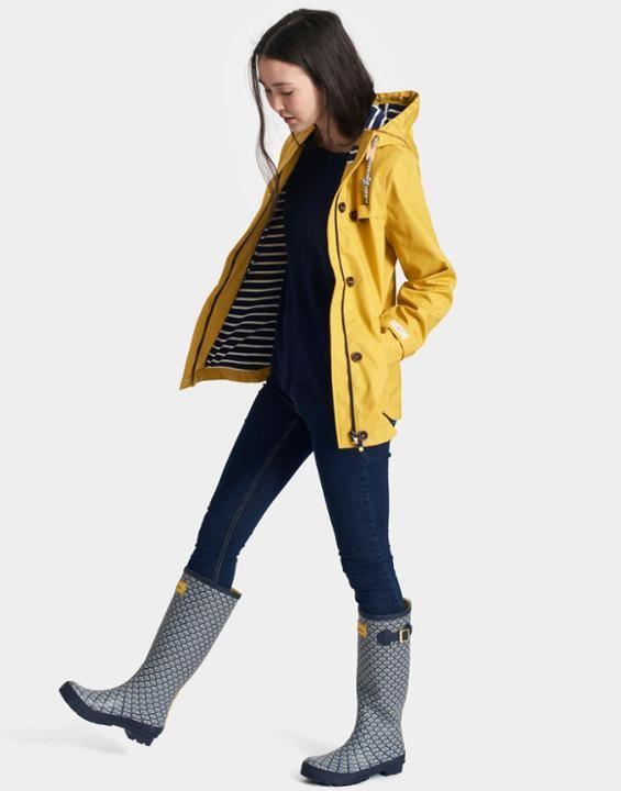 Joules US COAST Womens Waterproof Jacket Antique Gold