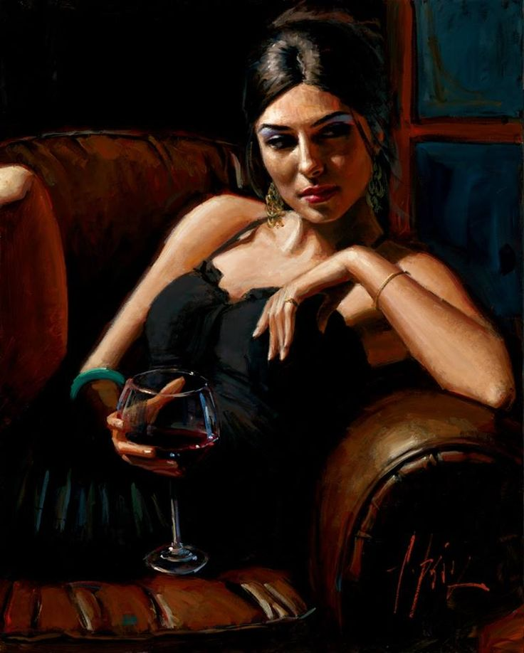 the living room V by fabian perez