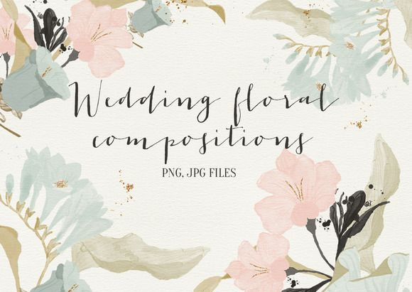 Check out Wedding floral compositions by Webvilla on Creative Market
