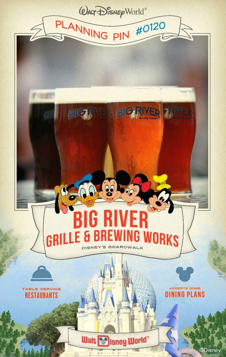 Walt Disney World Planning Pin: Big River Grille  Brewing Works