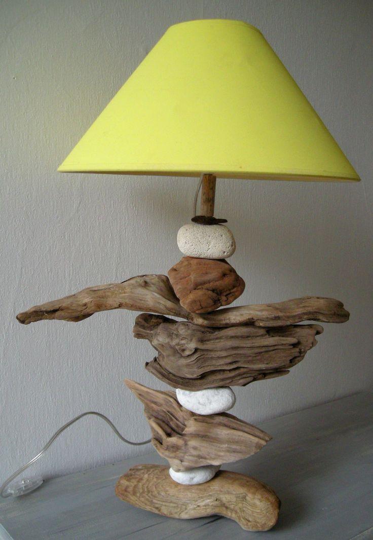 1285 besten drift wood bilder auf pinterest holzarbeiten for Faire une lampe en bois flotte