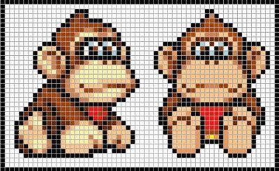 Donkey Kong. #beads #nintendo #donkeykong