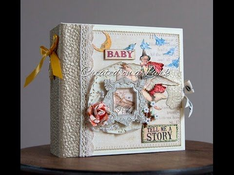 This baby album was created using the adorable Prima Bedtime Stories collection. Although it can be used for either a baby boy or baby girl, there is some pi...