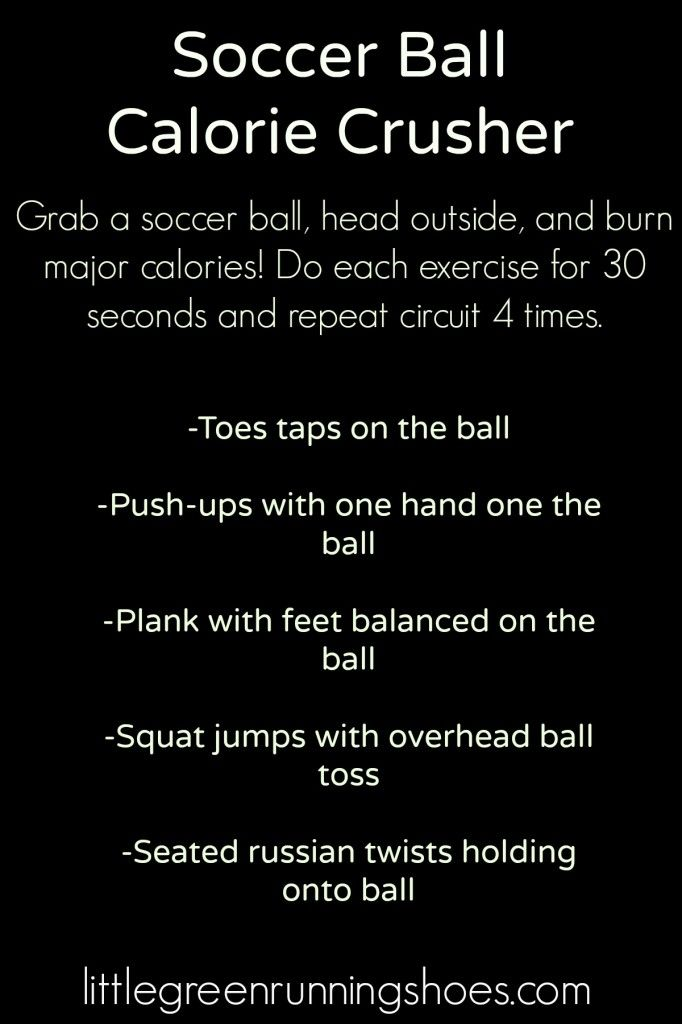 Soccer Ball Workout Calorie Crusher