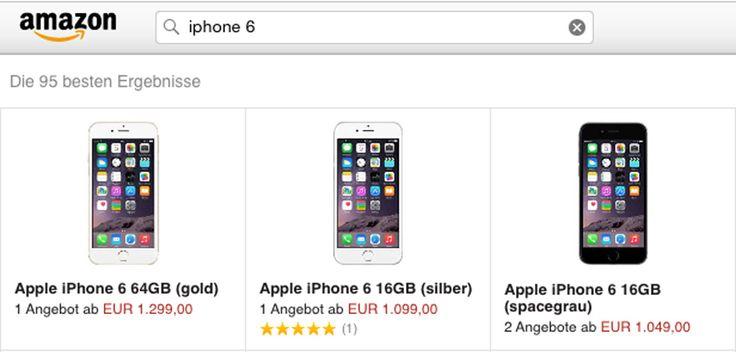iPhone 6 bei Amazon - https://apfeleimer.de/2014/09/iphone-6-plus-amazon - Neues iPhone 6 jetzt bei Amazon gelistet. Noch ist weder iPhone 6 noch iPhone 6 Plus bei den Vorbestellern, die gestern das iPhone 6 mit Vertrag oder ein neues iPhone ohne Vertrag vorbestellt hatten, zuhause eingetroffen schonwird das neue iPhone 6 bei Amazon gehandelt. Doch ähnlich wie beim i...