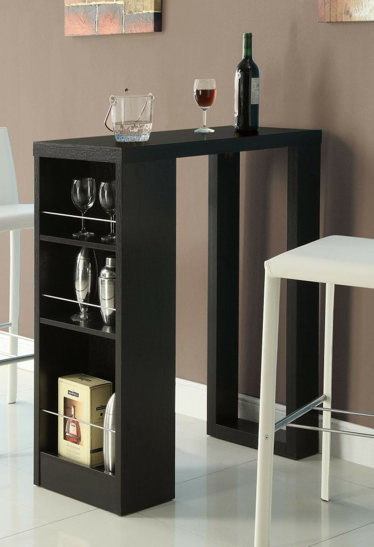Add a bar unit or bar table to your gathering and entertainment room, and you will be the life of the party. Host gatherings of all sizes. Choose the right style and size to meet your needs and keep your guests happy.